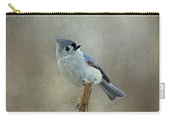 Tufted Titmouse Watching Carry-all Pouch by Sandy Keeton