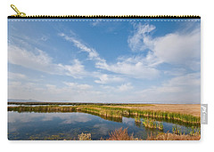 Carry-all Pouch featuring the photograph Tule Lake Marshland by Jeff Goulden