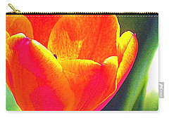 Carry-all Pouch featuring the photograph Tulip 2 by Pamela Cooper