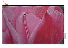 Tulip Blooming Carry-all Pouch by Claudia Goodell