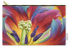 Carry-all Pouch featuring the painting Tulip Color Study by Jane Girardot