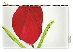 Carry-all Pouch featuring the painting Tulip Of The Heart by Tracey Williams