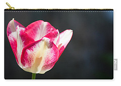 Tulip On Black Carry-all Pouch