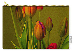 Tulips Against Green Carry-all Pouch
