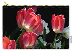 Carry-all Pouch featuring the photograph Tulips And Daffodils by Lucinda Walter