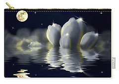 Tulips And Moon Reflection Carry-all Pouch