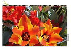 Tulips At The Pier Carry-all Pouch by Holly Blunkall