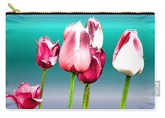 Carry-all Pouch featuring the digital art Tulips by Daniel Janda