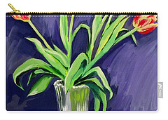 Tulips On The Table Carry-all Pouch