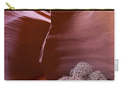 Carry-all Pouch featuring the photograph Tumbleweed In The Canyon by Bryan Keil
