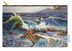 Carry-all Pouch featuring the painting Turbulent Waters Hawaii by Jenny Lee