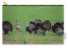 Turkey Mating Ritual Carry-all Pouch by Cheryl Baxter