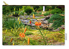 Carry-all Pouch featuring the photograph Turk's Cap Lily by Kathryn Meyer