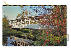 Carry-all Pouch featuring the photograph Turner's Covered Bridge by Suzanne Stout