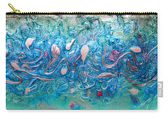 Turquoise Blue Sea Abstract Carry-all Pouch