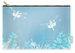 Turquoise Dragonfly Art Carry-all Pouch