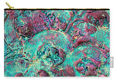 Turquoise 3d Sculpting Abstract Painting Carry-all Pouch