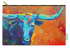 Turquoise Longhorn Carry-all Pouch