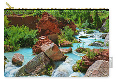 Turquoise Stream Carry-all Pouch