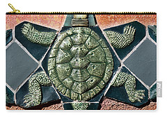 Turtle Mosaic Carry-all Pouch by Carol Leigh