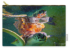 Turtle Reflection Carry-all Pouch by Carey Chen