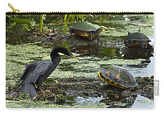 Turtles And Anhinga Carry-all Pouch
