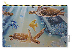 Turtles At Sea #2 Carry-all Pouch
