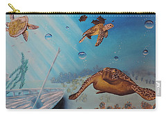 Turtles At Sea Carry-all Pouch