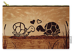 Turtles Love Coffee Painting Carry-all Pouch