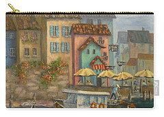 Tuscan Village Boat Paintings Carry-all Pouch