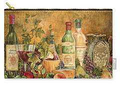 Tuscan Wine Treasures Carry-all Pouch by Jean Plout