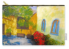 Tuscany Courtyard 2 Carry-all Pouch by Pamela  Meredith