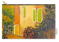 Carry-all Pouch featuring the painting Tuscany Courtyard by Pamela  Meredith