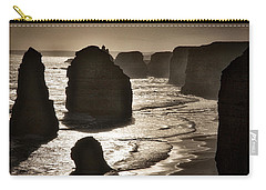 Twelve Apostles #3 - Black And White Carry-all Pouch