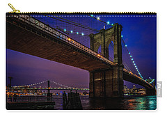 Twilight At The Brooklyn Bridge Carry-all Pouch