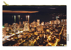 Carry-all Pouch featuring the photograph Twilight English Bay Vancouver Mdlxvii by Amyn Nasser