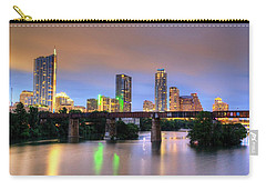 Twilight On The Lake Carry-all Pouch by Dave Files