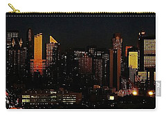 Carry-all Pouch featuring the photograph Twilight Reflections On New York City by Lilliana Mendez
