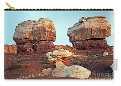 Twin Rocks At Sunrise Capitol Reef National Park Carry-all Pouch