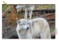 Twin Wolves Carry-all Pouch by Athena Mckinzie