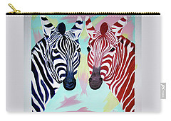 Carry-all Pouch featuring the painting Twin Zs by Phyllis Kaltenbach