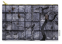 Carry-all Pouch featuring the photograph Twisted Decay - Abstract Metaphor  by Steven Milner