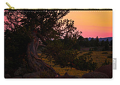 Twisted Tree In Sunset Carry-all Pouch