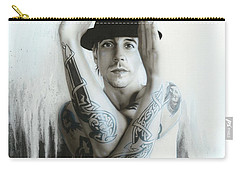 Anthony Kiedis - ' Twisting And Turning Your Feelings Are Burning ' Carry-all Pouch by Christian Chapman Art
