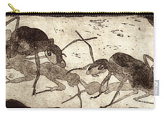 Two Ants In Communication - Etching Carry-all Pouch