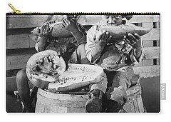 Two Boys Eating Watermelon Carry-all Pouch by Underwood Archives