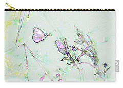 Carry-all Pouch featuring the photograph Two Butterflies by Patricia Griffin Brett