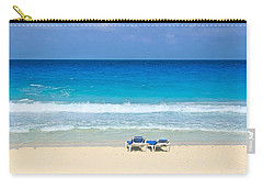 Two Chairs On Cancun Beach Carry-all Pouch