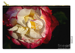 Carry-all Pouch featuring the photograph Two Color Rose by David Millenheft