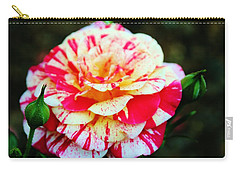 Two Colored Rose Carry-all Pouch by Cynthia Guinn